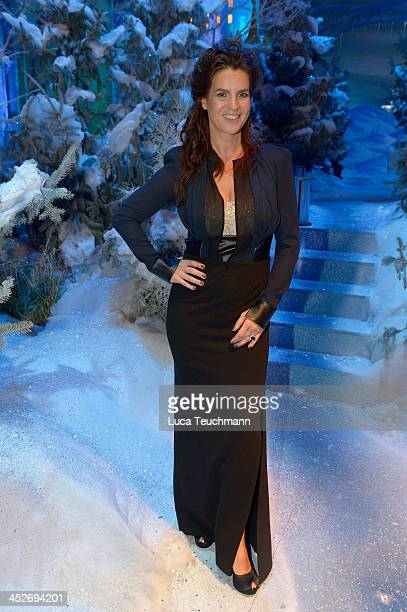 Katarina Witt performs on the TVShow 'Das Adventsfest der 100000 Lichter' at CCS Suhl on November 30 2013 in Suhl Germany