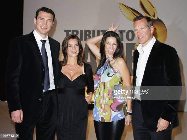 Katarina Witt Wladimir Klitschko Countess Mariella von FaberCastell Ahrens and Henry Maske attend the after show party to 'Tribute To Bambi 2009' at...