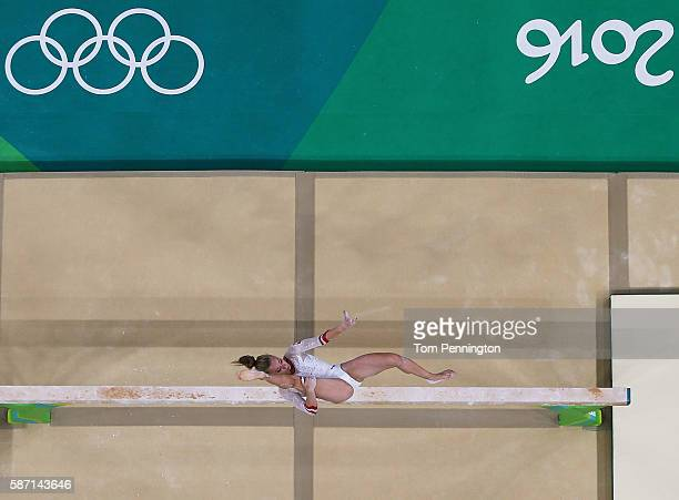 Katarzyna JurkowskaKowalska of Poland competes on the balance beam during Women's qualification for Artistic Gymnastics on Day 2 of the Rio 2016...