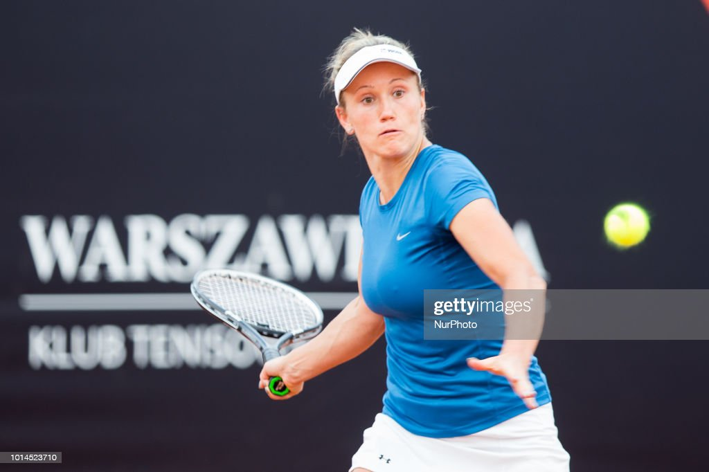Katarzyna Kawa during Warsaw - ITF Womens Circuit Tenis Tournament 2018 in Warsaw, Poland, on August 10, 2018.