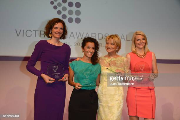 Katarzyna MolWolf Zeynep BabadagiHardt Uschi Glas and LeaSophie Cramer attends the 9th Victress Awards Gala at andels Hotel Berlin on April 28 2014...