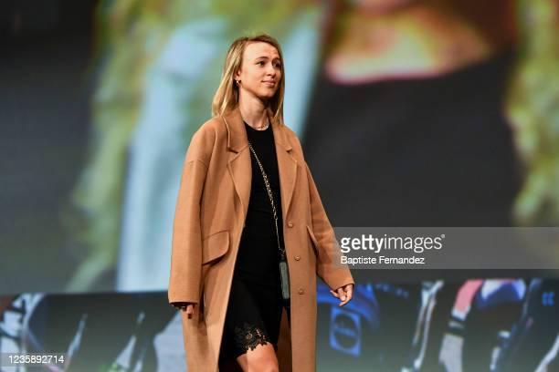 Katarzyna NIEWIADOMA during the presentation of the Tour de France 2022 at Palais des Congres on October 14, 2021 in Paris, France.