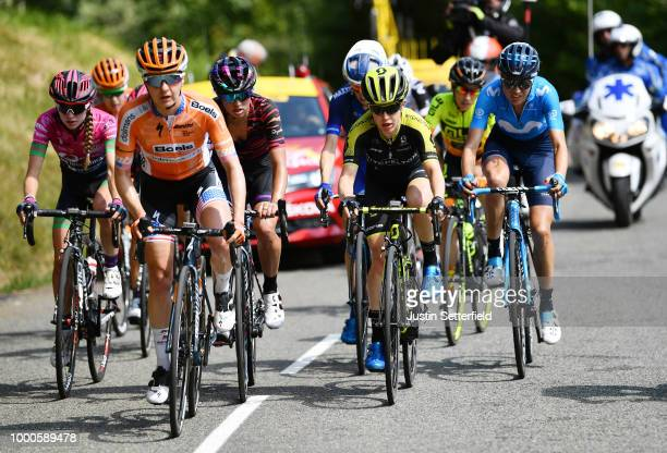 Katarzyna Niewiadoma of Poland and Canyon SRAM Racing Team / Megan Guarnier of The United States and Boels Dolmans Cycling Team / Amanda Spratt of...