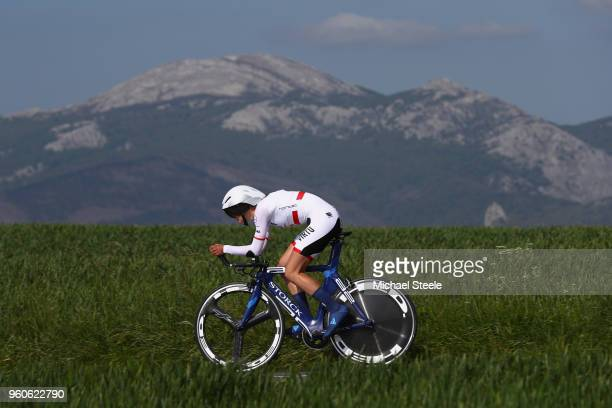Katarzyna Pawlowska of Poland and Team Virtu Cycling during the 31st Women WT EmakumeenBira Stage 2 266km Individual Time Trial from Agurain to...