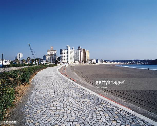 Katasehigashi Beach, Shonan, Kanagawa Prefecture, Japan, Front View, Pan Focus