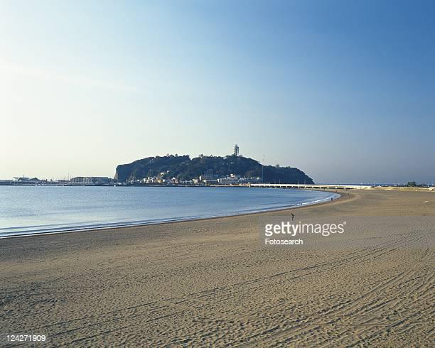 Katasehigashi Beach, Shonan, Kanagawa Prefecture, Japan, Front View, Pan Focus