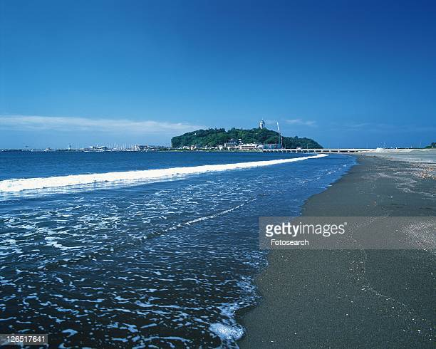 Katasehigashi Beach, Shonan, Kanagawa Prefecture, Japan, Front View, Pan Focus, Pan Focus