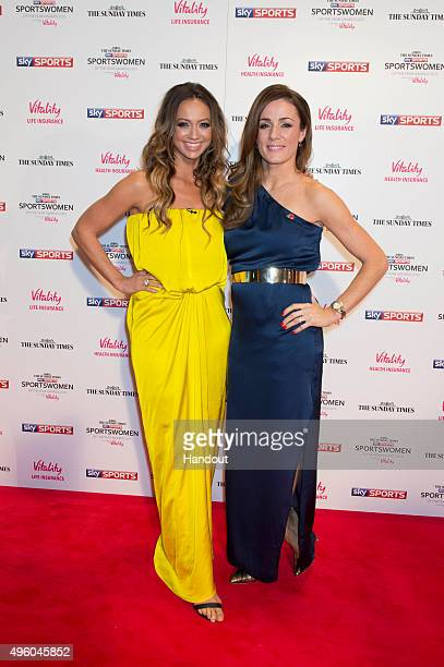 Kate Abdo and Natalie Pinkham attends the The Sunday Times and Sky Sports Sportswomen of the Year Awards in association with Vitality on November 6...