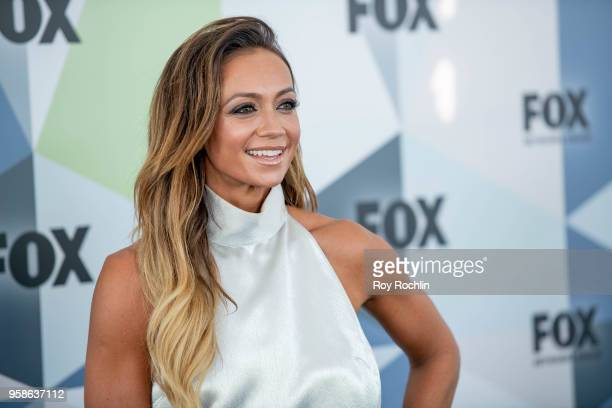 Kate Abdo attends the 2018 Fox Network Upfront at Wollman Rink Central Park on May 14 2018 in New York City