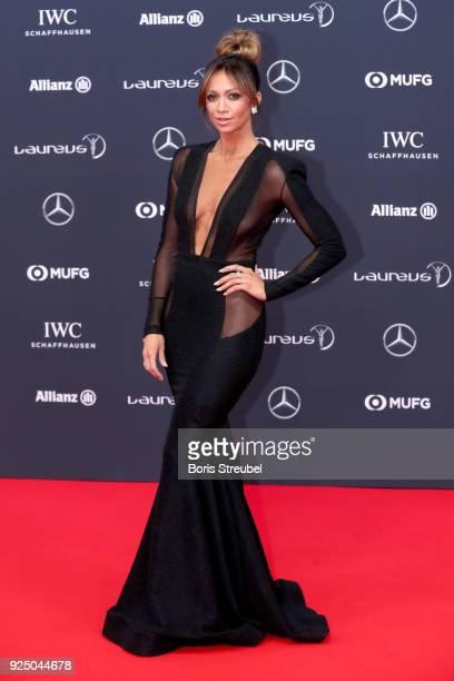 Kate Abdo attends the 2018 Laureus World Sports Awards at Salle des Etoiles Sporting MonteCarlo on February 27 2018 in Monaco Monaco