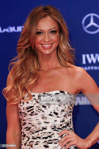 Kate Abdo attends the Laureus World Sports Awards 2016 at the Messe Berlin on April 18 2016 in Berlin Germany