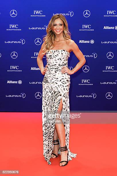 Kate Abdo attends the Laureus World Sports Awards 2016 on April 18, 2016 in Berlin, Germany.