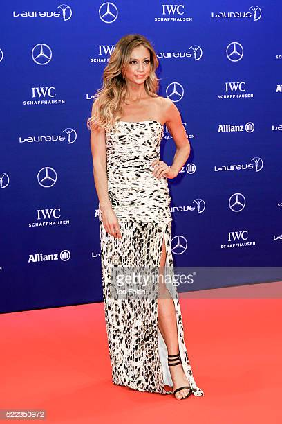 Kate Abdo attends the Laureus World Sports Awards 2016 on April 18 2016 in Berlin Germany