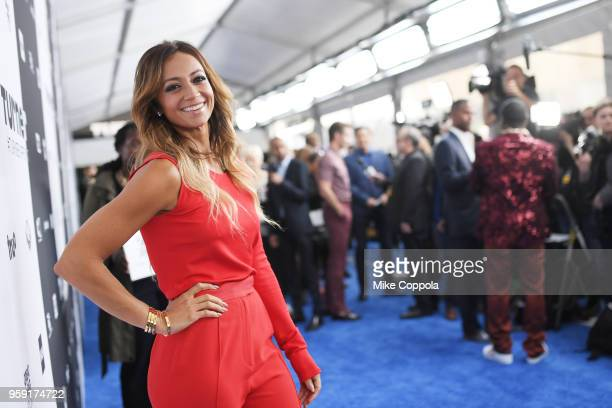Kate Abdo attends the Turner Upfront 2018 arrivals on the red carpet at The Theater at Madison Square Garden on May 16 2018 in New York City 376296