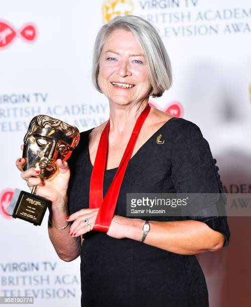 Kate Adie in the press room during the Virgin TV British Academy Television Awards at The Royal Festival Hall on May 13 2018 in London England