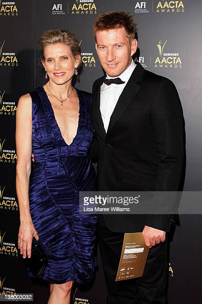 Kate Agnew and David Wenham arrive at the 2012 AACTA awards at the Sydney Opera House on January 31 2012 in Sydney Australia