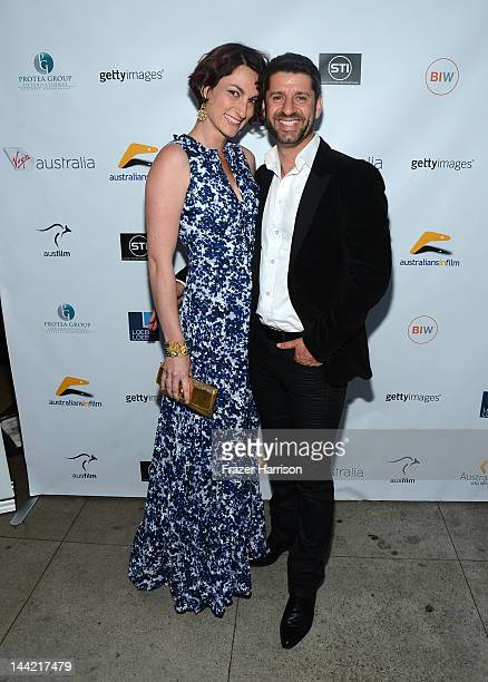 Kate Ammouchi and Harli Ames arrive at Australians In Film Screening and USA premiere of Myriad Pictures' The Cup at Laemmle's Music Hall 3 on May 11...