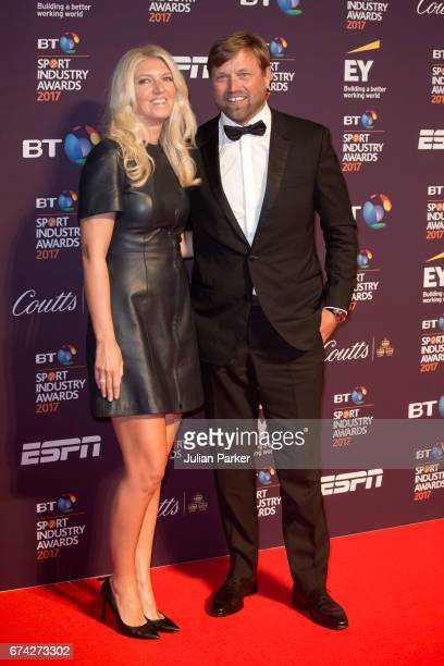 Kate and Alex Thomson attend the BT Sport Industry Awards at Battersea Evolution on April 27 2017 in London England