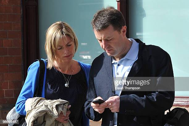 Kate and Gerry McCann are sighted arriving at the Eurostar terminal on April 27 2010 in London England