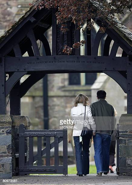 Kate and Gerry McCann arrive at St Mary and St John Parish Church in the village of Rothley Leicestershire for a church service on the day of the...