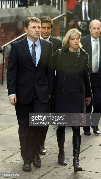 Kate and Gerry McCann arrive at the Royal Courts of Justice in central London to give evidence to the Leveson Inquiry into press standards about...