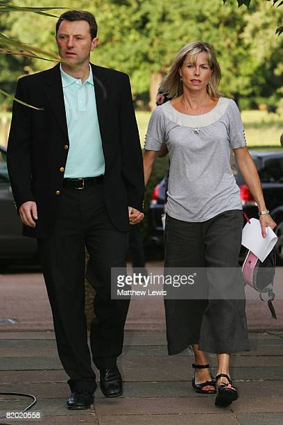 Kate and Gerry McCann arrive for a press conference to anounce that they have been cleared of being formal suspects on the disappearance of their...
