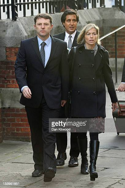 Kate and Gerry McCann arrive to give evidence to The Leveson Inquiry at The Royal Courts of Justice on November 23 2011 in London England The inquiry...