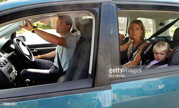 Kate and Gerry McCann drive out of their home in Rothley Leicestershire in central England 12 September 2007 with children Sean and Amelie As the...