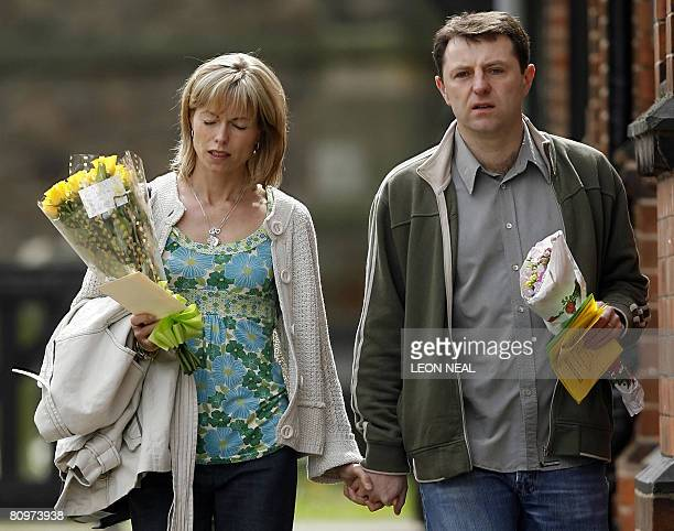 Kate and Gerry McCann leave St Mary and St John Parish Church in the village of Rothley Leicestershire following a church service on the day of the...