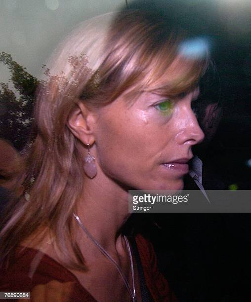 Kate and Gerry McCann leave their home in a blacked out taxi and are believed to be heading for London to meet their lawyers on 20 September Rothley...