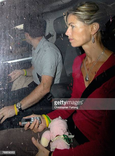 Kate and Gerry McCann leave their home in their car on September 19 2007 Rothley England The McCann family have returned from Portugal after local...
