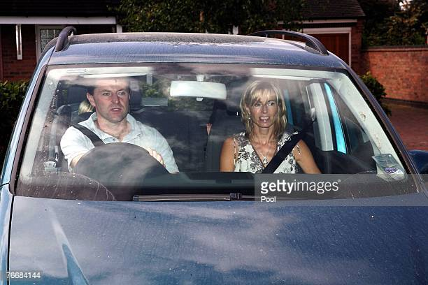 Kate and Gerry McCann leave their home today to take their children Amelie and Sean to a local play park on September 12 2007 in Rothley England...