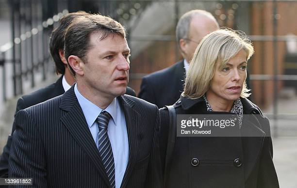 Kate and Gerry McCann parents of missing Madeleine McCann arrive to give evidence to The Leveson Inquiry at The Royal Courts of Justice on November...