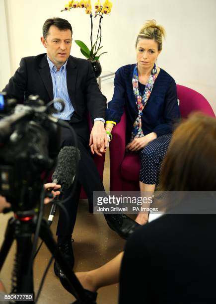 Kate and Gerry McCann parents of missing Madeleine McCann give an interview on the south bank in central London nearly six years after she vanished