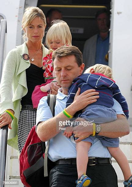 Kate and Gerry McCann the parents of missing fouryearold Madeleine McCann arrive back in the UK to East Midlands airport with twins Sean and Amelie...