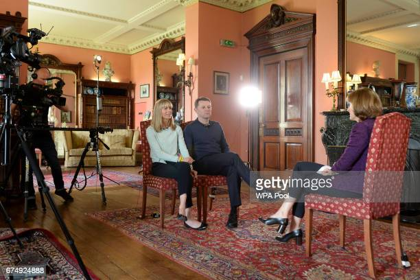 Kate and Gerry McCann whose daughter Madeleine disappeared from a holiday flat in Portugal ten years ago are seen during an interview with the BBC's...