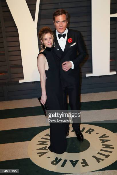 Kate Arrington and actor Michael Shannon attend the 2017 Vanity Fair Oscar Party hosted by Graydon Carter at the Wallis Annenberg Center for the...