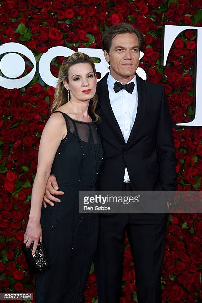 Kate Arrington and actor Michael Shannon attend the 70th Annual Tony Awards at The Beacon Theatre on June 12 2016 in New York City