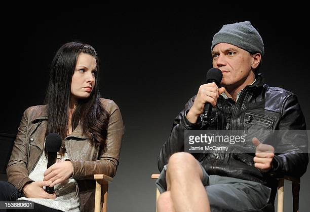 Kate Arrington and Michael Shannon attend Meet The Cast of Broadway's Grace at the Apple Store Soho on October 8 2012 in New York City