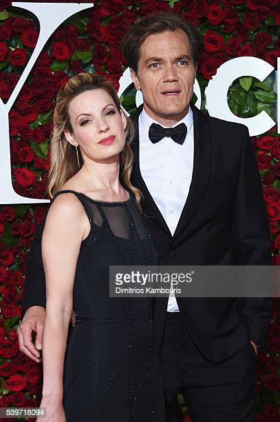 Kate Arrington and Michael Shannon attend the 70th Annual Tony Awards at The Beacon Theatre on June 12 2016 in New York City