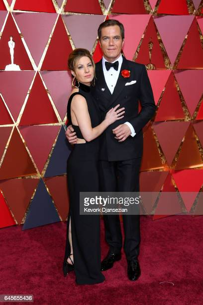 Kate Arrington and Michael Shannon attend the 89th Annual Academy Awards at Hollywood Highland Center on February 26 2017 in Hollywood California