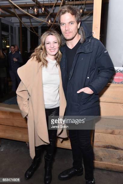 Kate Arrington and Michael Shannon attend TriStar Pictures The Cinema Society with 19 Crimes Host the After Party for T2 Trainspotting at Mr Purple...