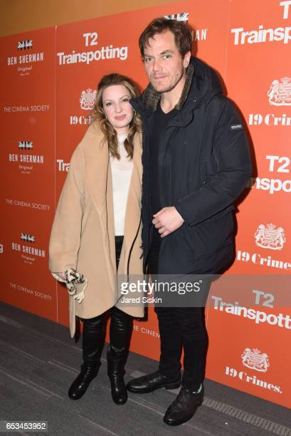 Kate Arrington and Michael Shannon attends TriStar Pictures The Cinema Society Host a Screening of T2 Trainspotting at Landmark Sunshine Cinema on...
