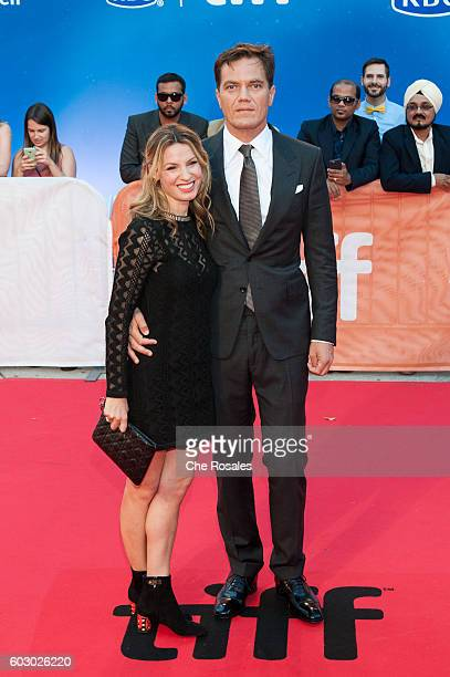 Kate Arrington with Actor Michael Shannon attend the premiere of Loving during the 2016 Toronto International Film Festival at Roy Thomson Hall on...