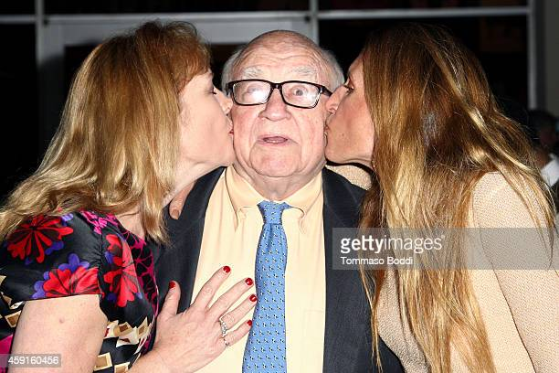 Kate Asner actor Ed Asner and Liza Asner attend the My Friend Ed Documentary premiere and reception held at UCLA James Bridges Theatre on November 17...