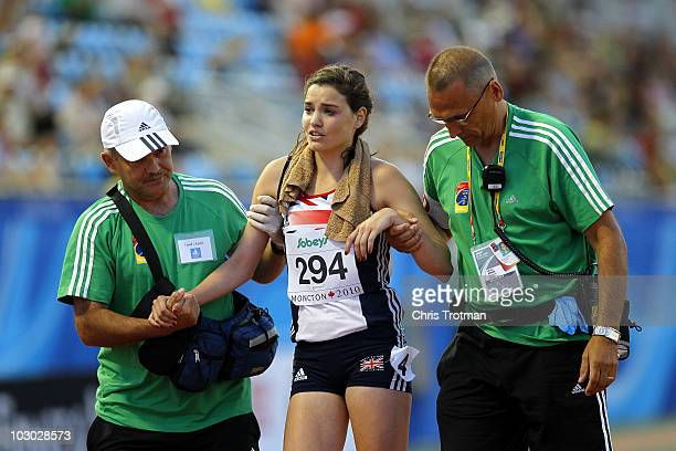 Kate Avery of Great Britain after finishing third in the 5000 Metres Final on Day 3 of the 13th IAAF World Junior Athletics Championships at the...