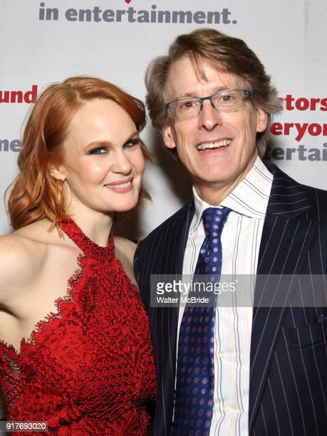 Kate Baldwin and Dick Scanlan attend the after party for the Actors Fund's 15th Anniversary Reunion Concert of 'Thoroughly Modern Millie' on February...