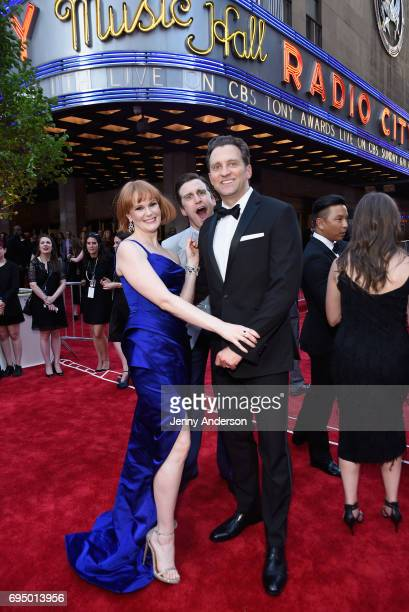 Kate Baldwin and Graham Rowat attend the 2017 Tony Awards at Radio City Music Hall on June 11 2017 in New York City