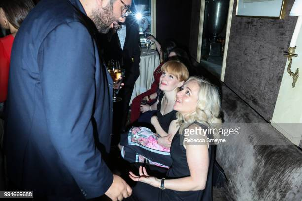 Kate Baldwin and Rachel Bay Jones attend the 10th Annual OM Tony Awards party at the Carlyle on June 10 2018 in New York New York