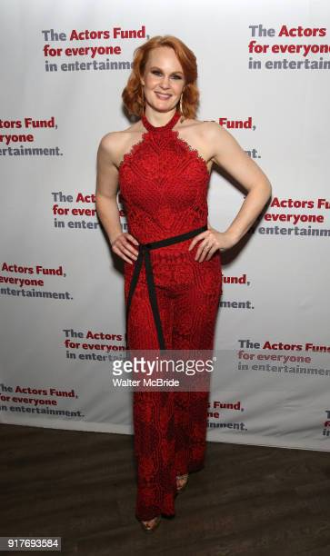 Kate Baldwin attends the after party for the Actors Fund's 15th Anniversary Reunion Concert of 'Thoroughly Modern Millie' on February 18 2018 at the...
